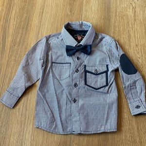 12 months sovereign code button up bowtie shirt!